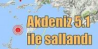 Akdeniz'de deprem; Datça 5.1 ile sallandı, Milas, Fethiye ve Marmaris'te hissedildi