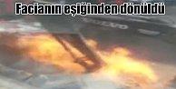 Bağcılar#039;da doğalgaz borusu patladı, alevler apartmanları sardı