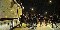 Bursa'da Beşiktaş otobüsüne çirkin saldırı