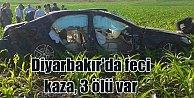 Diyarbakır#039;da tarlaya uçan lüks araç içinde 3 kişi can verdi