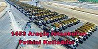 İstanbulun fethinin 564.cü yıl dönümünü 1453 araçla kutladılar