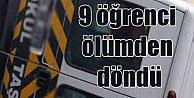 İzmir Bayındır#039;da öğrenci servisi kaza yaptı, 9 yaralı var