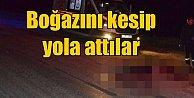Manisa Kula#039;da vahşi infaz: Boğazını kesip yola attılar
