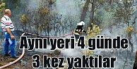 Ortaca#039;da aynı yerde 4 günde 3 yangın birden çıktı