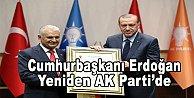 Resmen AKP'ye üye oldu