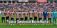 Sivasspor şampiyonluk maçına hazırlanıyor
