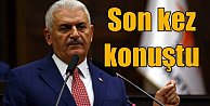 Yıldırım, AK Parti Grubu'nda son kez konuştu
