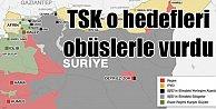 Afrin#039;de PYD hedefleri vuruldu: Ağır silahlar konuştu