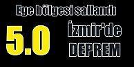İzmir#039;de deprem, AFAD İzmir 5.0 ile sallandı