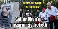 Kılıçdaroğlu Gaffar Okan'ın mezarını ziyaret etti