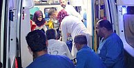 Seydişehir#039;de kum yığınına çarpan otomobilde 6 kişi yaralandı