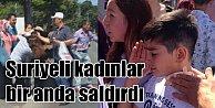 Suriyeli kadınlar, Konya#039;da anne ve oğluna saldırdı