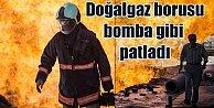 Ankara#039;da doğalgaz borusu patladı, alevler gökyüzünü kapladı