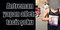 Bodrum#039;da kadın atlete yolun ortasında cinsel taciz