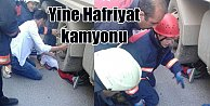 Hafriyat kamyonu bisikletli çocuğu altına aldı