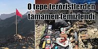 Hakkari#039;de o tepe PKK#039;lı teröristlerden temizlendi