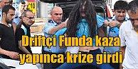 Konya#039;da driftçi kız kaza yapınca çılgına döndü