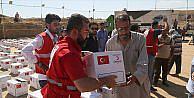 Türk Kızılayıdan 330 Musullu aileye gıda yardımı