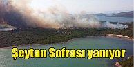 Balıkesir Şeytan Sofrası yanıyor, 2 tatil sitesi boşaltıldı