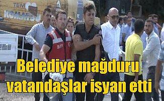 Belediye ve TOKİ mağduru vatandaşları polis dağıttı