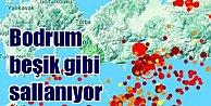 Bodrum'da deprem; Bodrum 4.6 ile sallandı