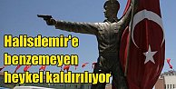 Ömer Halisdemir#039;e benzemeyen heykel kaldırıldı