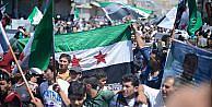 Suriye'de terör örgütü PKK/PYD karşıtı gösteriler düzenlendi