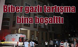 Apartmanda biber gazı paniği; Vatandaşlar panikle boşalttı