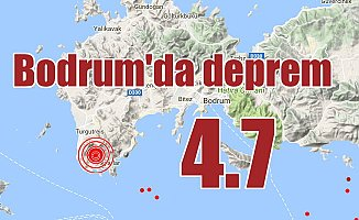 Bodrum'da korkutan deprem; 4.6