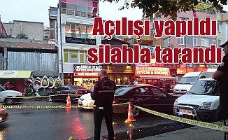 Halıcıoğlu'nda yeni açılan kafeterya silahla tarandı