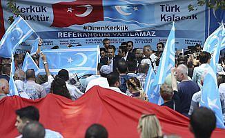 İstanbul'da 'Kerkük Türkmenlerine Sahip Çık' mitingi gerçekleştirildi