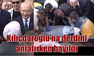 Kılıçdaroğlu'na derdini anlatan adam düşüp bayıldı