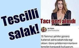 Miss Turkey güzelinden iğrenç mesaj