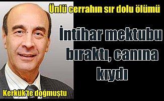 Prof.Dr. Paşaoğlu'nun intiharına çifte soruşturma