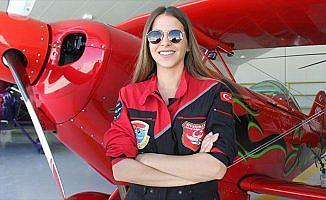 Türkiye'nin kadın akrobasi pilotunun hedefi yurt dışı