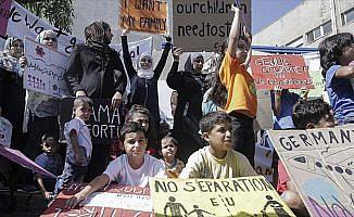 Yunanistan'da sığınmacılardan protesto