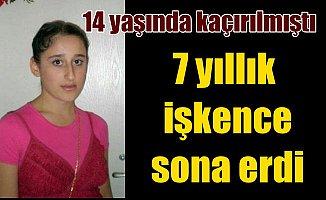 7 yıl önce kaçırılan Melike, ailesine kavuştu