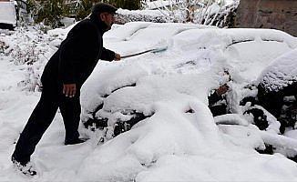 Ardahan'da yoğun kar ve tipi ulaşımı aksattı