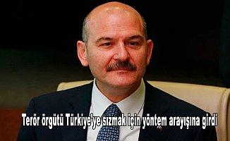 İçişleri Bakanı Soylu: Terör örgütü Türkiye'ye sızmak için yöntem arayışına girdi