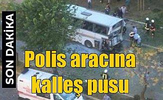 Mersin'de kalleş pusu, polis aracına bombalı saldırı 18 yaralı var