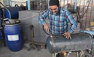 Otomobillerin eskiyen LPG tanklarıyla evleri ısıtıyor