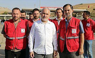 Türk Kızılayı Genel Başkanı Kınık İdlib'de incelemelerde bulundu