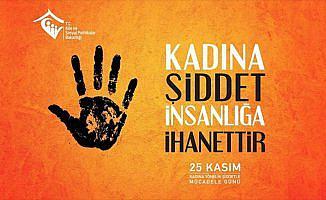 Aile ve Sosyal Politikalar Bakanlığından banner: 'Kadına Şiddet İnsanlığa İhanettir'