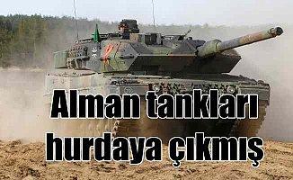 Alman ordusunda tankların yarısından fazlası hurda olmuş