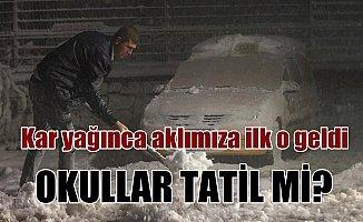 Ankara ve Kırklareli'nde kar yağışı etkili oluyor; Okullar tatil mi?
