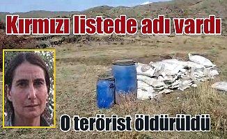 Kırmızı listede aranan kadın terörist öldürüldü