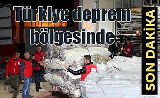Türk arama kurtarma ekipleri deprem bölgesine ulaşmaya çalışıyor