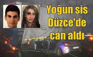 Düzce'de feci kaza; Üniversiteli sevgilileri ölüm ayırdı