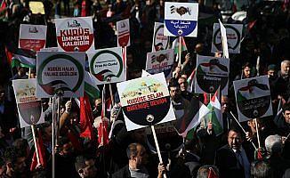 ABD'nin Kudüs kararı protesto ediliyor