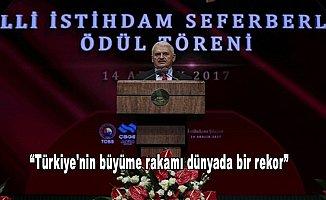 Başbakan Yıldırım: Türkiye'nin büyüme rakamı dünyada bir rekor